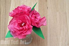 Tissue Paper Flower Craft – how to