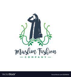 Vector Logo Design, Logo Design Template, Moda Hijab, Hijab Logo, Free Logo Templates, Learning Logo, Business Names, Business Lady, Fashion Logo Design