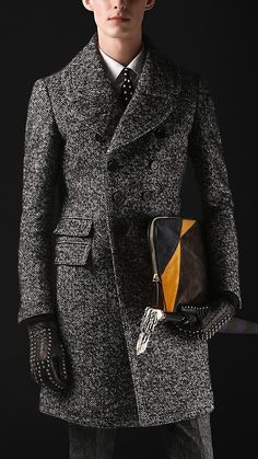 This herringbone coat from Burberry is perfect for your chap!  Diamond Jubilee Dressing | nataliastyle