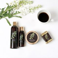 THE BODY COLLECTION includes 4 of our signature products full of artisan roasted coffee and green coffee bean extract-natural caffeine and antioxidants-that are designed to rejuvenate the skin. When used together our products : Super Hydrates Restore elasticityEven skin toneReduce fine linesRepair damage from sun spotsPrevent moisture lossReduce inflammationBoost cell turnoverBrighten and soften skin *If purchased separately, the total cost is $87.00 EACH SET INCLUDES: 12 FL OZ  JAVA BODY…