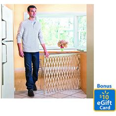 Extra Wide Safety Baby Gate w Door Metal Expandable Walk