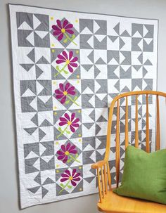 Practice your applique in this modern patchwork quilt by Kate Colleran