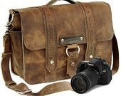Brand New Disstressed Tan Voyager bag by Copper River Bags