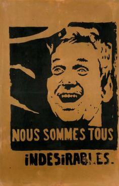 [Mai 68]. Daniel Cohn-Bendit au sourire sarcastique.