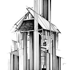 archisketchbook - architecture-sketchbook, a pool of architecture drawings, models and ideas Sketchbook Architecture, Paper Architecture, Amazing Architecture, Architecture Design, A Level Art, Sense Of Place, Urban Sketching, Pattern Art, Line Art