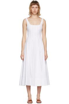 Designer Clothes, Shoes & Bags for Women | SSENSE Long Slip Dress, Silk Slip, Mid Length Dresses, Green Silk, Neck Collar, Helmut Lang, Cold Shoulder Dress, White Dress, Dresses For Work