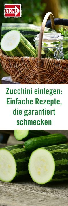 Zucchini: Simple recipes that are guaranteed to taste - Utopia.de - Pickling zucchini is easy with our delicious recipes. So you can preserve the Mediterranean vegetab - Easy Meat Recipes, Hamburger Meat Recipes, Bacon Recipes, Skinny Recipes, Canning Recipes, Grilling Recipes, Easy Meals, Simple Recipes, Delicious Recipes