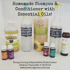 DIY Essential Oil Shampoo and Conditioner Alright, I've been DIY-ing again! I've been excited to try making my own homeade shampoo and conditioner ever since I got my oils months ago, and I finally got around to it this morning… Sage Essential Oil, Essential Oil Blends, Essential Oils For Hair, Young Living Oils, Young Living Essential Oils, Homemade Shampoo And Conditioner, Dog Shampoo, Hair Shampoo, Shampoo Natural