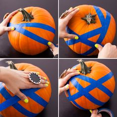 Go for the Glow: No-Carve Glow-in-the-Dark Pumpkins via Brit + Co.