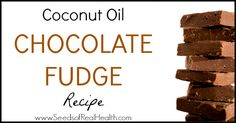 This easy, 5 ingredient coconut oil chocolate fudge recipe is filled with healthy ingredients that actually help boost your metabolism!