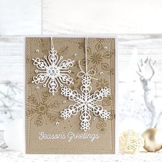 The new @mftstamps Stylish Snowflake dies are absolutely gorgeous!!! #mftstamps #mft #mftdienamics #christmas #snowflake #winter #papercraft #cardmaking #stamping #handmade #card #seasonsgreetings #핸드메이드 #카드 #스탬핑 #크리스마스