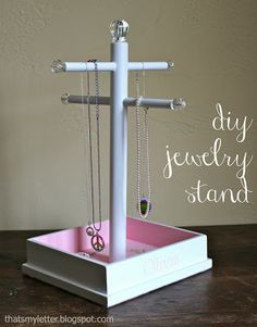"""J"" is for Jewelry Stand -- might work for displays at shows....?"