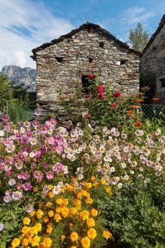 Stone house, Tessin, near Lago Maggiore, Switzerland.