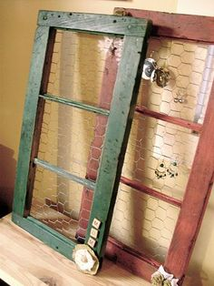Barn Windows to Jewelry Holders