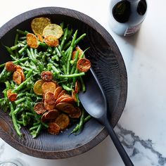 This fantastic side dish stars thin green beans and crispy oven-baked Yukon Gold potato chips. Get the recipe at Food & Wine.