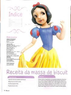 As 3 Artes: Princesas da Disney em Biscuit - 01