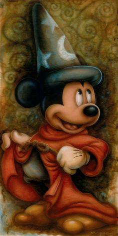 Darren Wilson - DCL 2013 - Sorcerer Mickey Mouse Sorcerer's Apprentice Disney Art