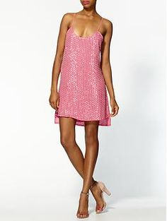 Love these Parker Dresses! Parker Leather Sequins Tank Dress | Piperlime