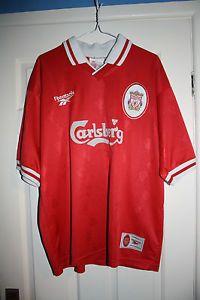 83adc645c Liverpool FC Rare Vintage Retro Home Shirt 1996-1998 LFC Reebok Carlsberg