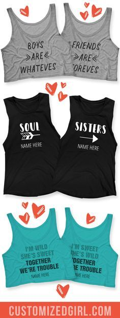 Celebrate your BFF, your bestie, and partner in crime with custom best friend shirts!