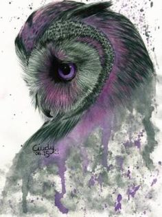 Portrait - purple owl