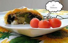 Strudel con melanzane, peperoni, Asiago e pancetta – torte salate