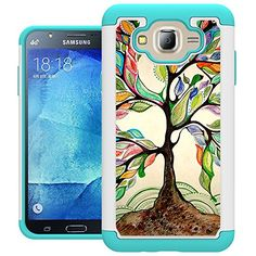 J7 Case Galaxy J7 Case UrSpeedtekLive Shock Absorption Dual Layer Hybrid Defender Protective Case Cover for Samsung Galaxy J7 2015 Release  Love Tree -- You can get additional details at the image link.