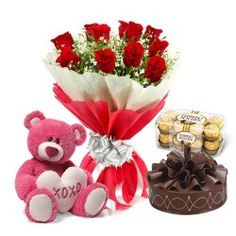 Flowers and sweet combos are a great gift which can be given on any occasion. Wishes are very important on all occasions and being away from loved ones is no reason why one cannot be a part of their celebrations.