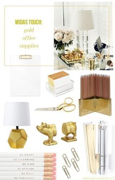 MIDAS TOUCH: GOLD OFFICE SUPPLIES by Marche' Robinson   Lucky Community