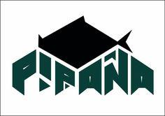Logotipo marca de ropa urbana piraña