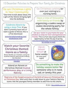 10 Activities to Get Your Family Ready for Christmas printable | RealLifeAtHome.com