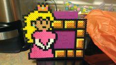 Perler beads princess peach picture frame