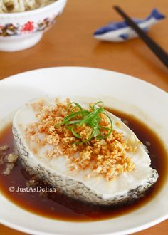 Cantonese Style Steamed Cod Fish with ginger soy