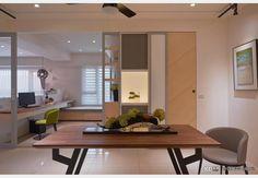 與空間對話的人文宅_現代風設計個案—100裝潢網