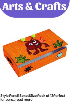 Style:Pencil Boxes|Size:Pack of 12Perfect for pencils or any special treasures (these cardboard boxes are great for personalizing with paint, marker, pencil, crayon and collage; set of 12 boxes; 9'L x 5-1/2'W x 2-1/8'H) - discount school supply item. … (This is an affiliate link)