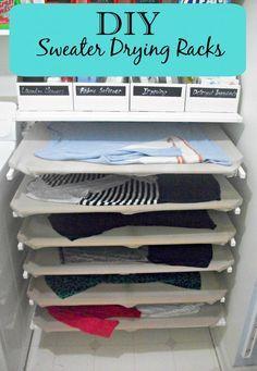 DIY Sweater Drying Racks More