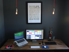 I've recently been spending a ton of time renovating my home office and wanted to share some of the progress since I figure the community here may appreciate it.  Some fun details:  I actually made...