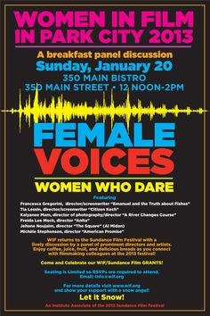 Going to Sundance? Check out this Women in Film breakfast panel discussion! Screenwriting, Park City, Film, Hgtv, The Voice, Breakfast, Check, Green, Organizations