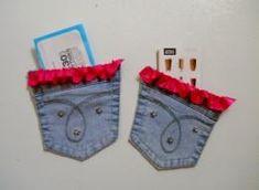 DIY jeans refashion: DIY Uses for Old Blue Jeans