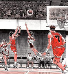 Slam Dunk Anime, Inoue Takehiko, Basketball Anime, Black Mamba, Kuroko, Animes Wallpapers, Slammed, Anime Guys, Comic Books