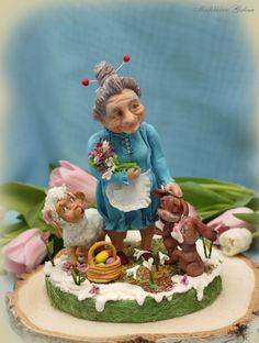 """Easter 2017. Sugar composition """" For beloved grandmother!"""""""