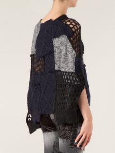Junya Watanabe Comme Des Garçons Knitted Patchwork Sweater - - Farfetch.com
