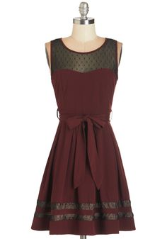 Altogether Adorable Dress. This merlot-red dress is elegant, entrancing, and winsome all at once! #red #modcloth