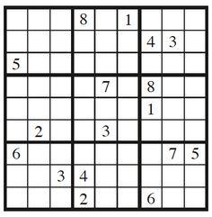 Você deve ter pelo menos 17 pistas para resolver o Sudoku