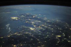 Řecko z ISS.