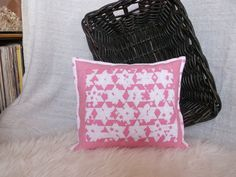 bavlnený vankúš, šitý technikou japonský prepletaný patchwork, zadná strana bavlna, zapínanie na skrytý zips...