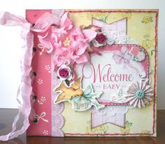 Welcome Baby Mini Album using Crate Paper's Little Bo Peep papers