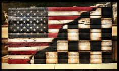 You are in the right place about Racing Tattoos flags Here we offer you the most beautiful pictures American Flag Pallet, American Flag Art, American Racing, Nascar Room, Racing Bedroom, Nascar Flags, Marine Flag, Racing Quotes, Flag Painting