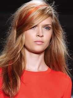 Trend: Bright Hair Extensions | Love colored streaks but don't want a permanent change? Try dyed clip-in hair extensions.