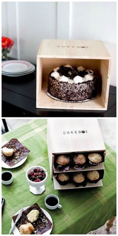 CAKEBOX: Safely transport cakes and cupcakes this holiday season! Love this! (They have pie boxes too!)